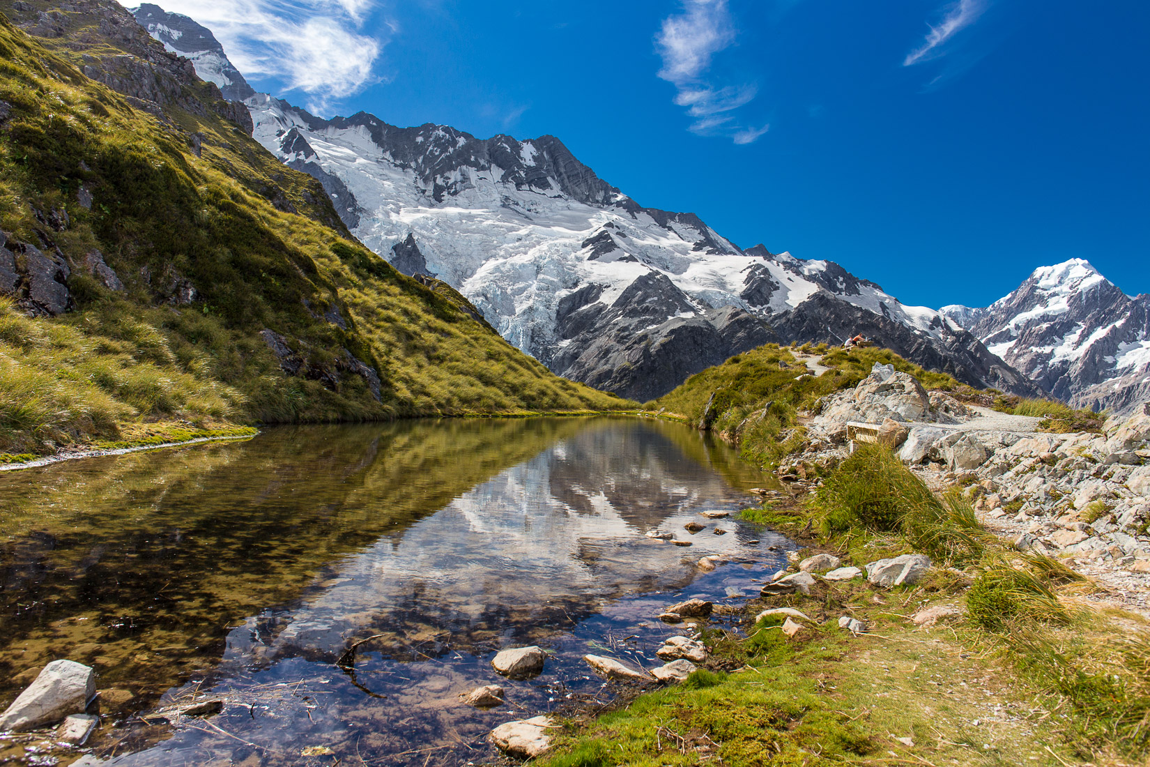 Sealy Tarns, Mount Cook National Park, New Zealand